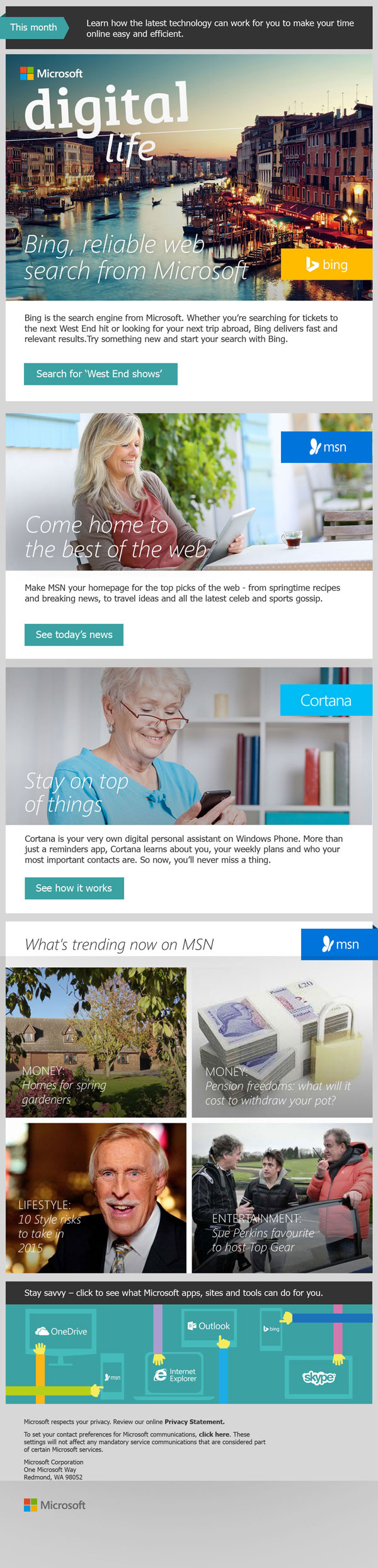 Microsoft - Newsletter Digital Life - Silver Surfers